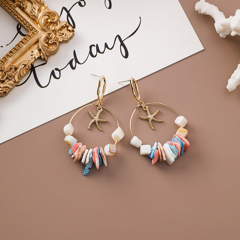 Star Hoops Earrings