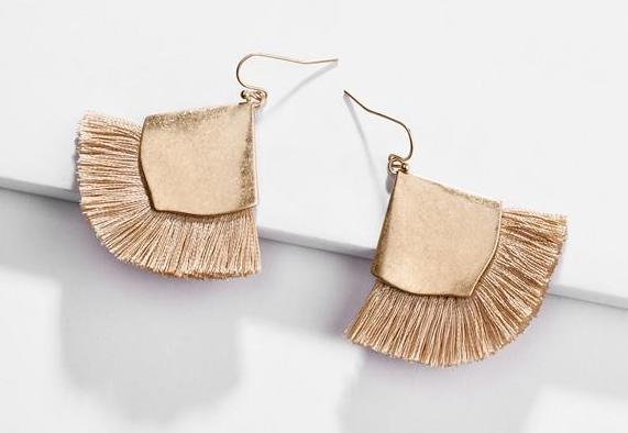 Fringe Tassel earrings triangle