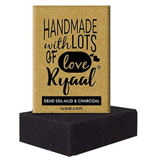 Ryaal Handmade Dead Sea Mud and Charcoal Soap (100% Sulphate and Paraben Free) - Ryaal