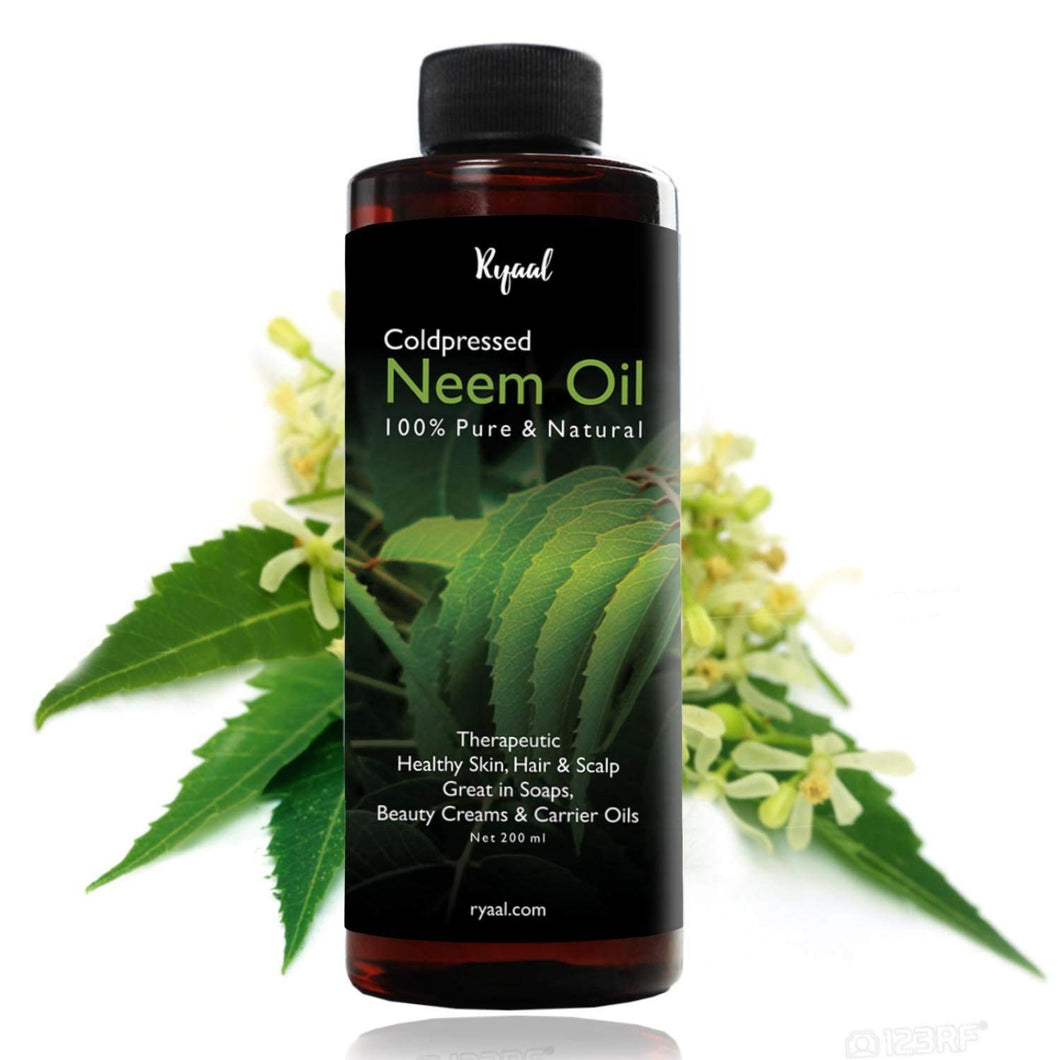 Ryaal Pure Essential Neem Oil For Hair Care And Skin Care (200ml) - Ryaal