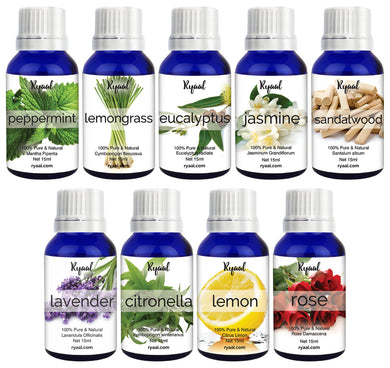 Ryaal Essential Oil Aromatherapy Set 9 In One Aroma Oil Pack - Ryaal