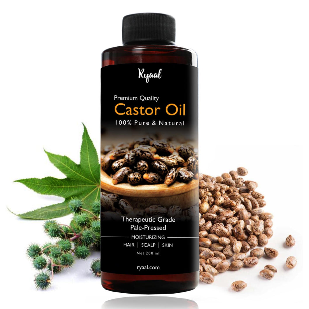 Ryaal Castor Oil Cold-Pressed, 100% Pure - Ryaal