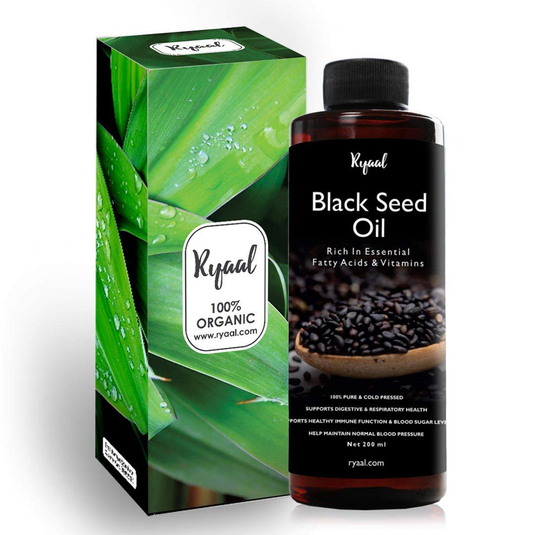Ryaal Black Seed Oil Kalonji Oil Nigella Sativa 100% Pure Cold Pressed No Additives For Hair Fall (200ML) - Ryaal