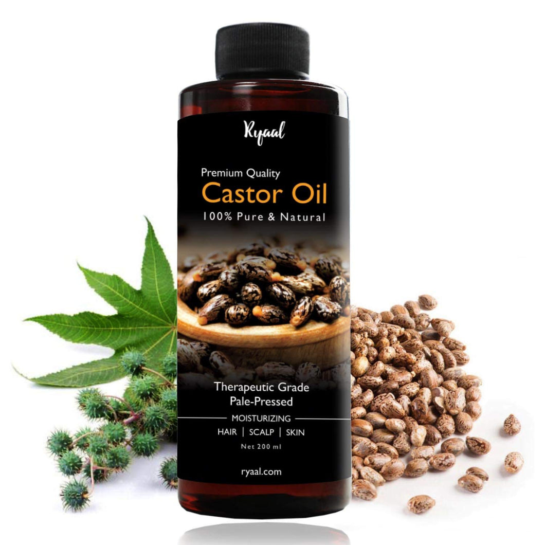 Ryaal Hexane-Free Cold-Pressed Castor Oil, 200ml (040-RY-CASTOR200) - Ryaal