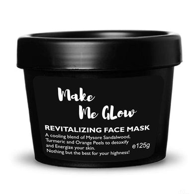 Ryaal Make Me Glow - Skin Brightening Face Mask with Real Sandalwood Powder, Organic Turmeric Powder, Rose Petals, Fades Dark Spots, Acne Scars Treatment, Discoloration, Hyper Pigmentation - Ryaal