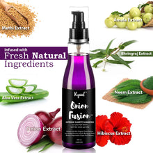 Ryaal Onion Fusion Intense Clarity Shampoo - with Ginger Amla Bringraj Methi and more - SLS and Paraben Free (200ml) - Ryaal