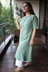 Pastel Green Organic Cotton Kurta
