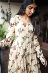 Rose Kalamkari  Cotton Anarkali