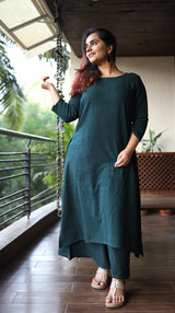 Bottle Green Organic Cotton Kurta