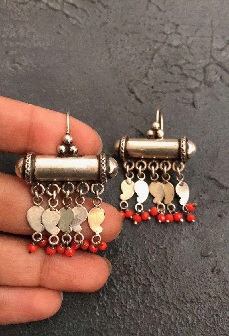 Cylinder Beads Earrings