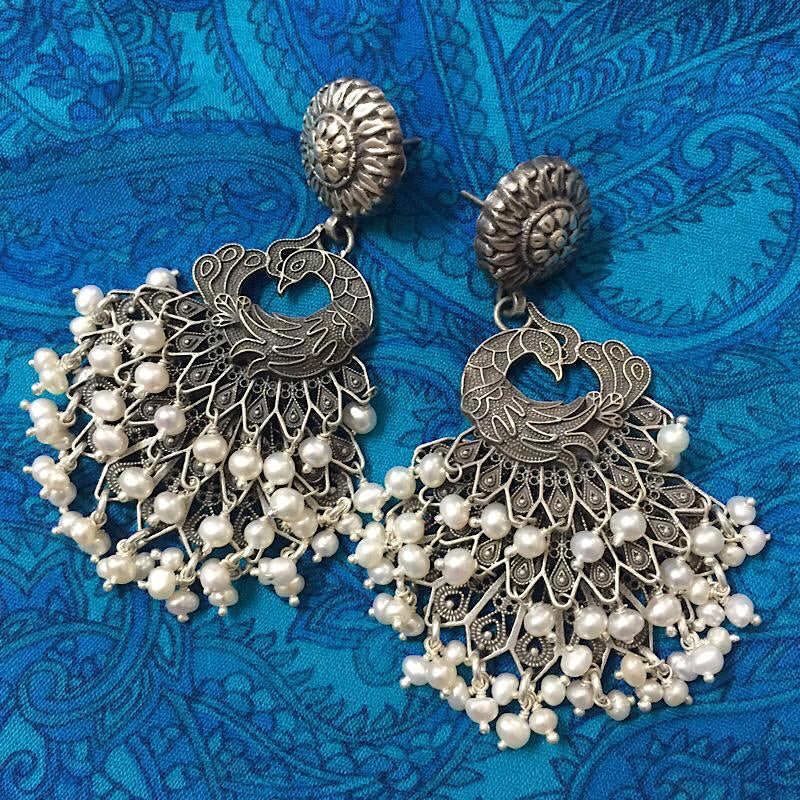 Pearl Peacock Earrings