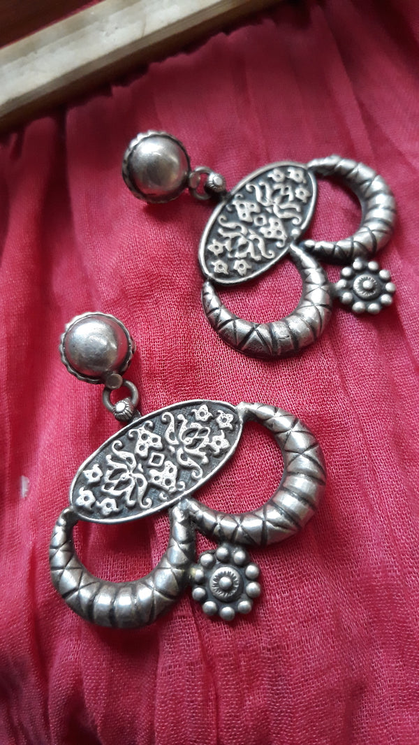 Curved Silver Earrings