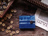 Handmade Indigo Madder Cotton Unisex Wallet