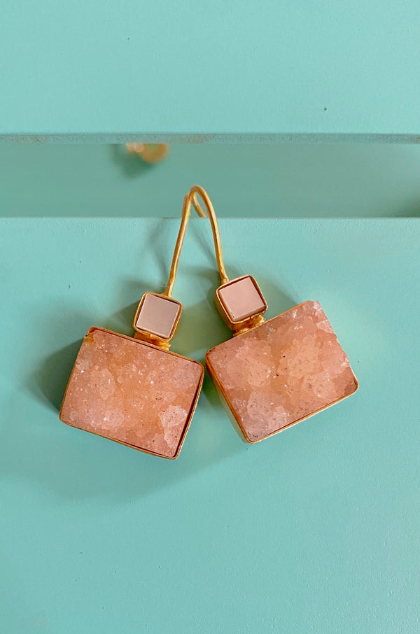 Mop Square With Orange Rectangle Druzy