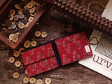 Handmade Midnight Madder Cotton Unisex Wallet
