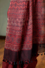 Ajrakh Natural Dyed Kota Doria Saree