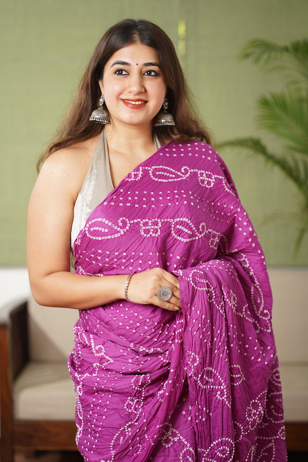 Bandhej Cotton Saree