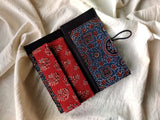 Handmade Indigo - Red Cotton Unisex Wallet