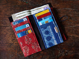 Handmade Red Cotton Unisex Wallet