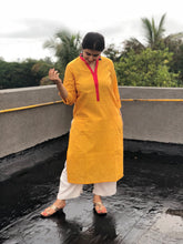 Dandelion Yellow Straight Fit Kurta