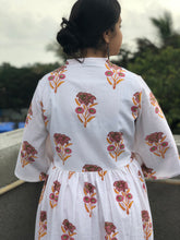 Sanganeri Floral Gather Dress