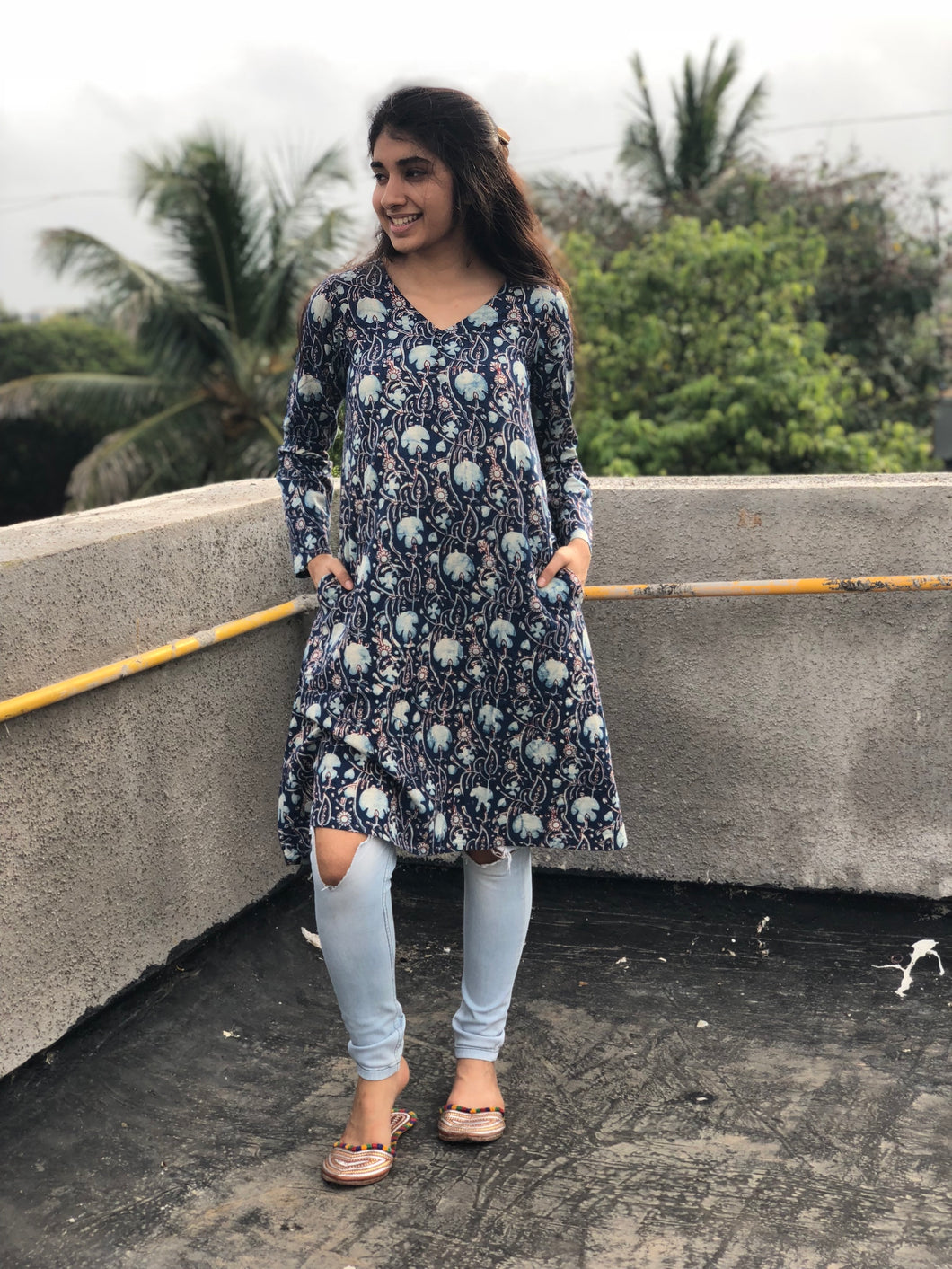 Dreamy Indigo Short Kurta
