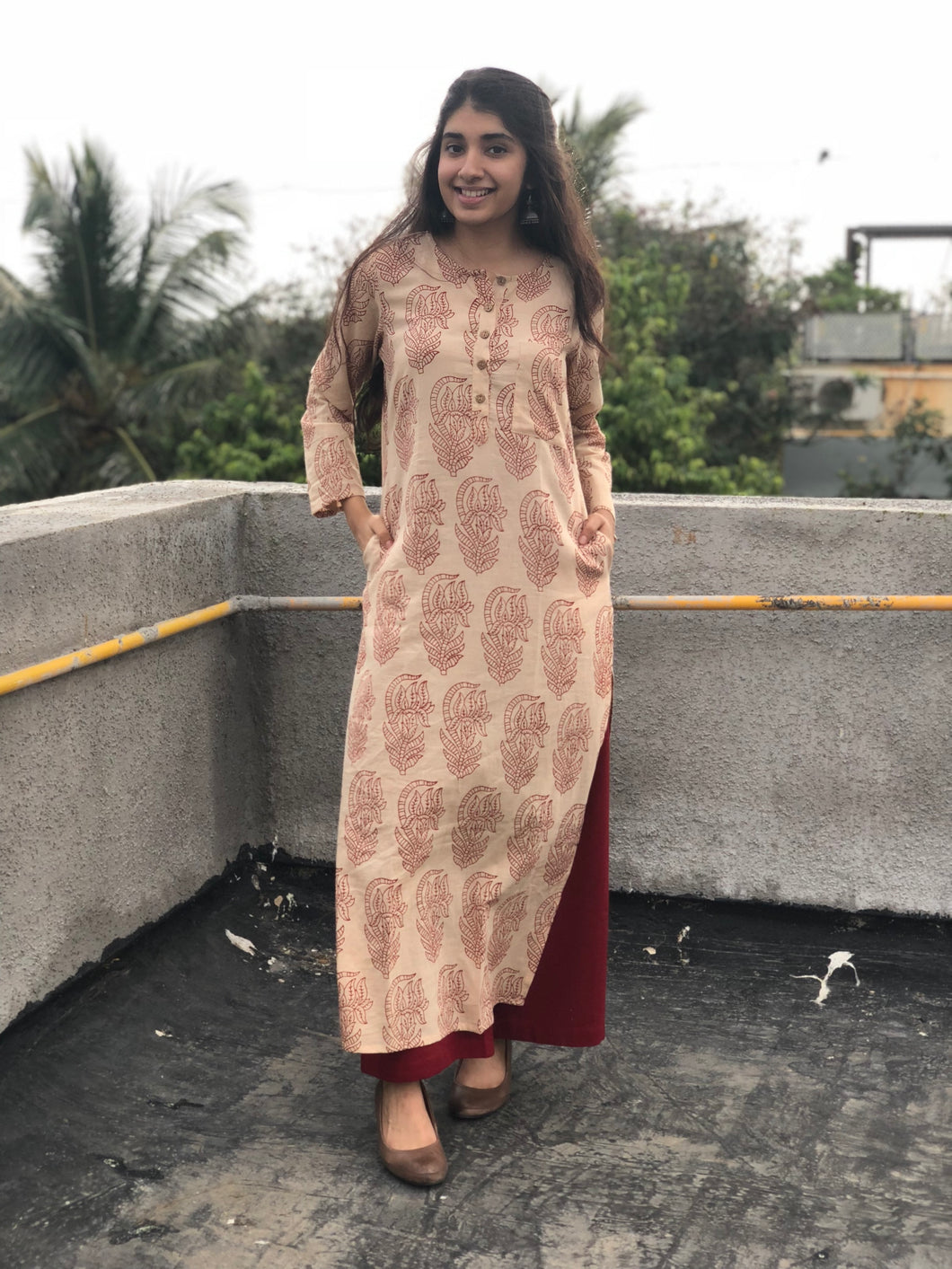 Triveni Blockprinted Kurta