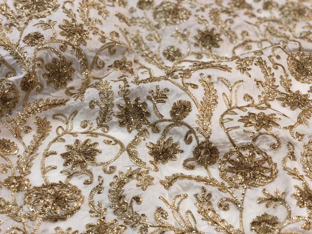 Gotapatti Chanderi Cotton Fabric