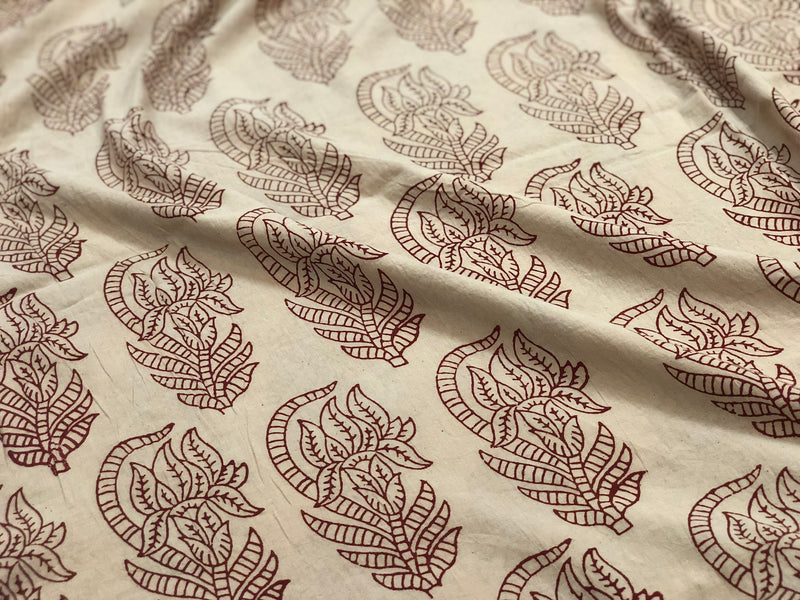 Gurhal Blockprint Mul Cotton Fabric