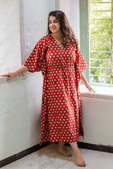 Noor Block Printed Cotton Kaftan