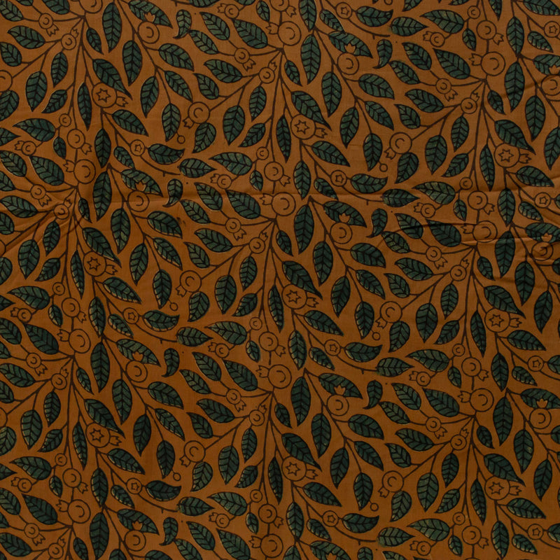 Natural Dyed Leaf Ajrakh Cotton Fabric