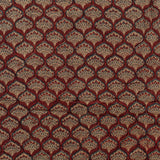 Natural Dyed Red Ajrakh Mul Cotton Fabric