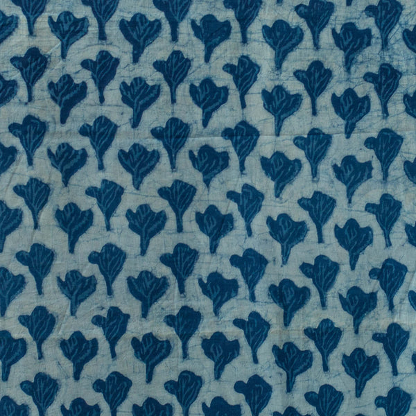 Dabu Indigo Hand Block Print Cotton Fabric