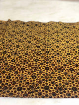 Mustard Handspun Cotton Ajrakh Block Print Fabric (2.25m)