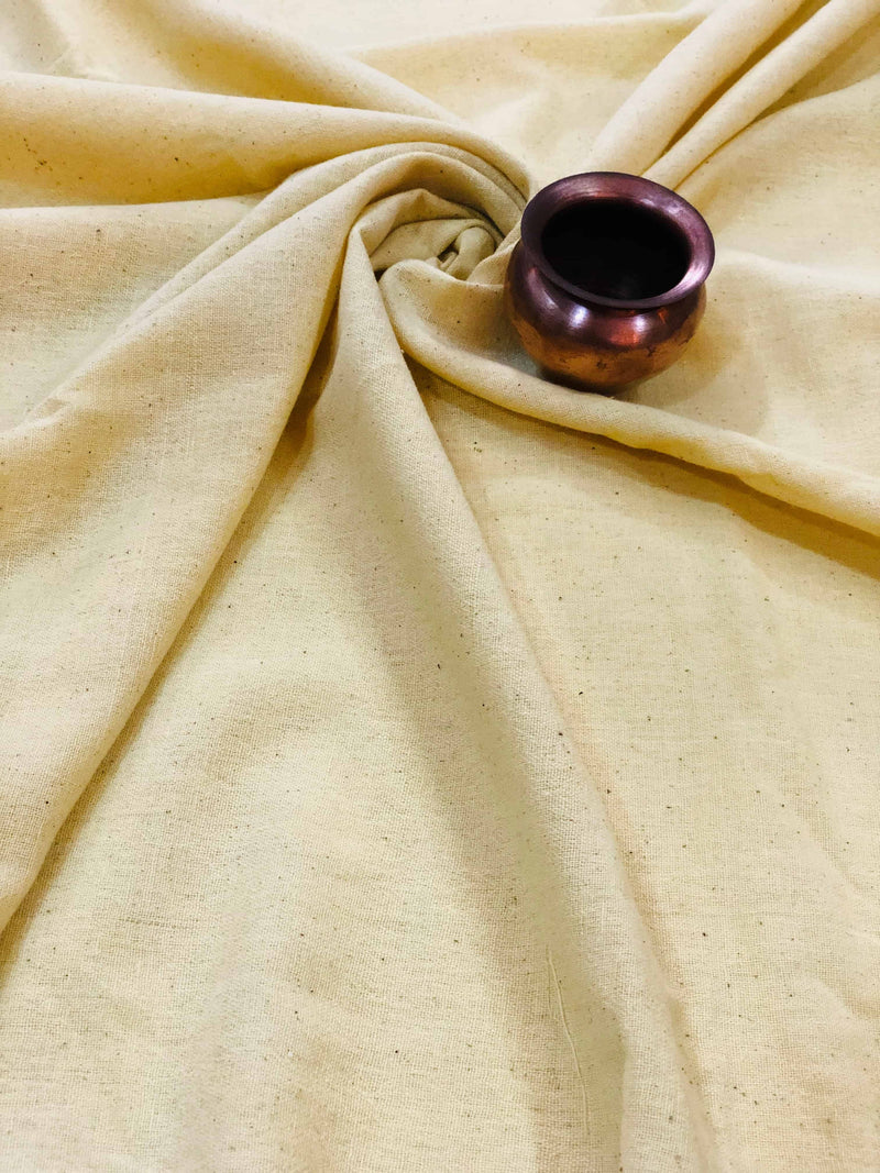 Creamish Yellow Handwoven Fabric