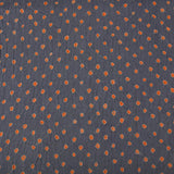 Grey with Orange Bandhej Cotton Fabric (3 meters)
