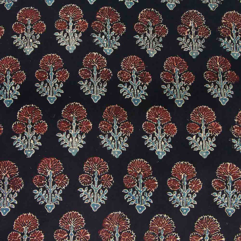 Midnight Dahlia Cotton Fabric