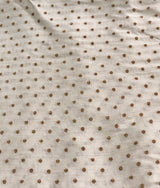 Golden Dots Munga Silk Fabric