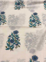 Sea Green  Handblock print Fabric