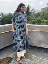 Mystic Indigo Side Pleated Kurta