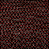 Natural Dyed Brown With Maroon Butti Ajrakh Cotton Fabric