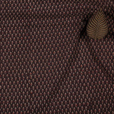Natural Dyed Brown Small Leaf Ajrakh Cotton Fabric