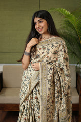 Kalamkari Mul Cotton Saree Natural Dyed Saree