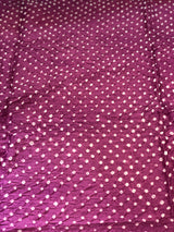 Purple Heavy Bandhej Fabric (3 meters)
