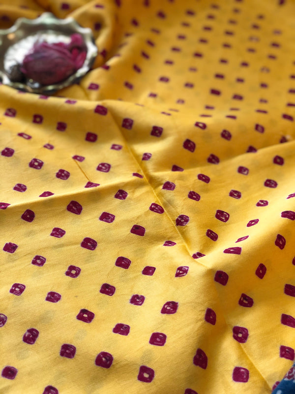 Bandhej Sunflower Fabric 2.5 meters