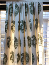 Shadow Paisley Organic Cotton  Home Linen Fabric