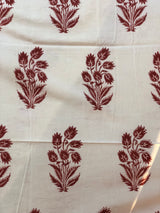 Madder Tulip Organic Cotton Home Linen Fabric