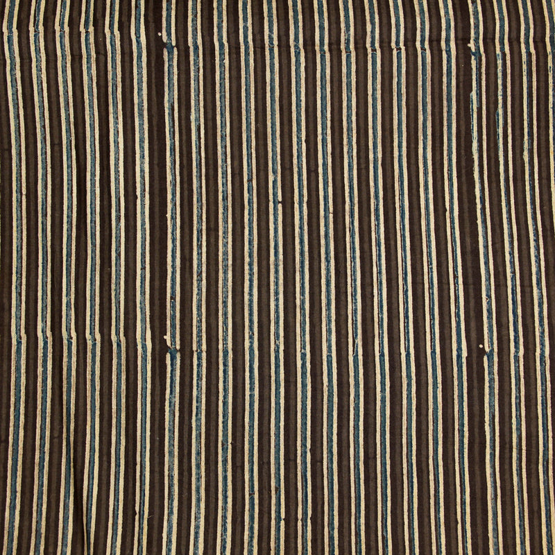 Natural Dyed Earthy Ajrakh Cotton Fabric