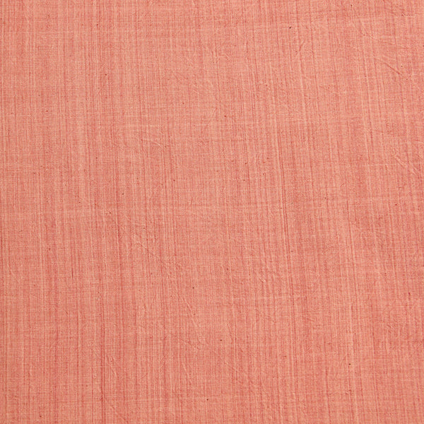 Peachy Pink Handwoven Natural Dyed Fabric