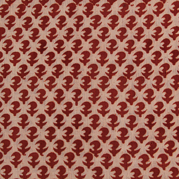 Natural Dye Red Hand Block Print Fabric